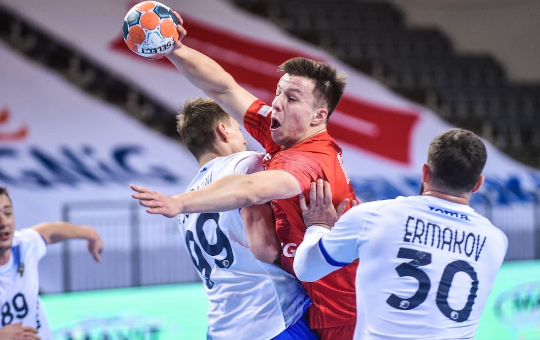 Ryska federala handbollslaget möter Sverige i VM.